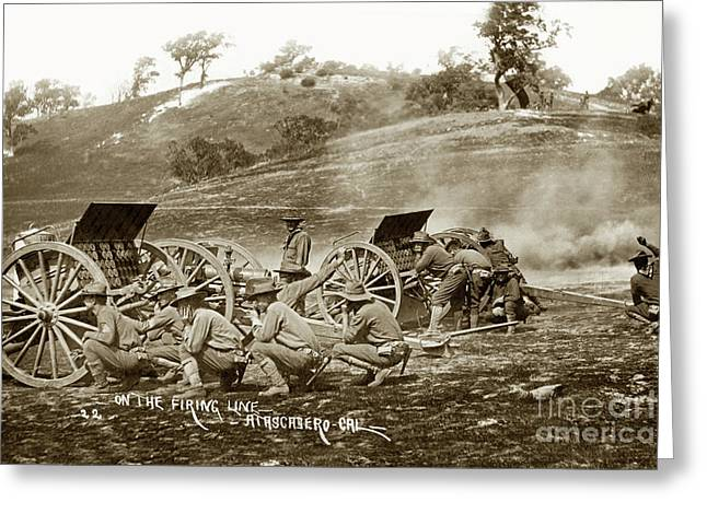 1st Battalion Of Field Artillery, California National Guard Circa 1908 Greeting Card