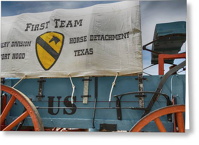 1st Cavalry Division Horse Detachment - Fort Hood Greeting Card