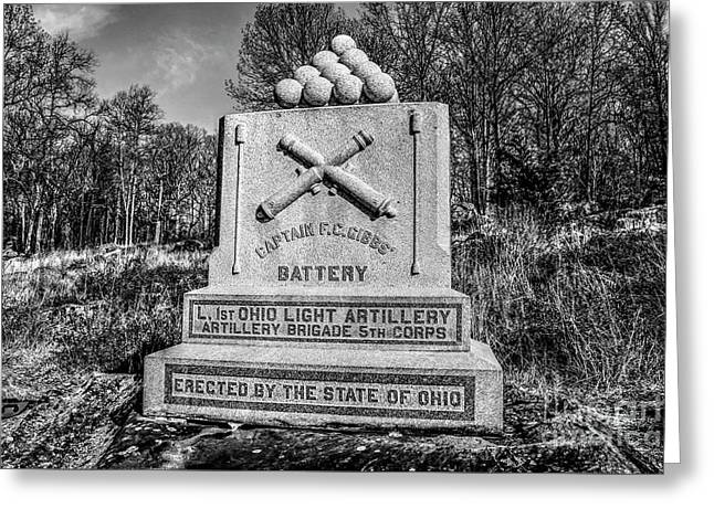 1st Ohio Light Artillery  Greeting Card
