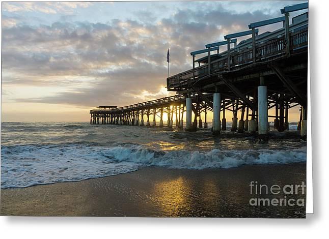 1st Sunrise 2017 Cocoa Beach Greeting Card