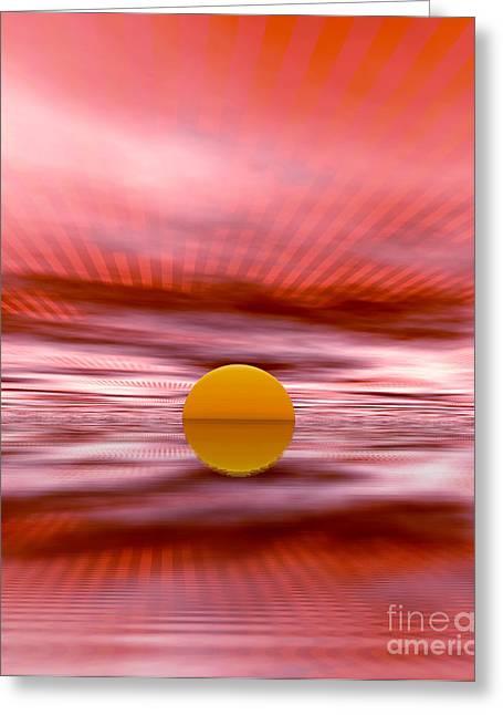 Sun Greeting Card by Odon Czintos