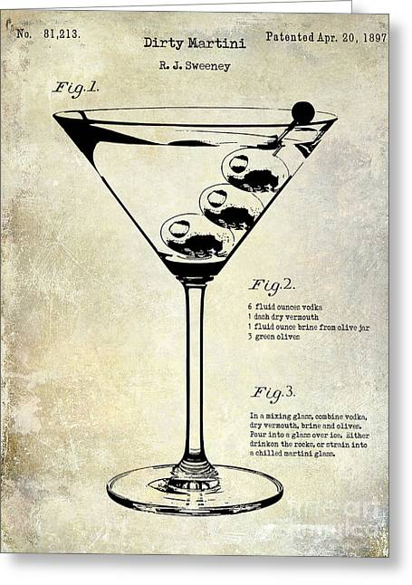 1897 Dirty Martini Patent Greeting Card