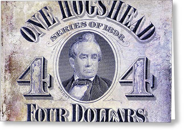 1898 Hogshead Beer Tax Stamp Greeting Card by Jon Neidert