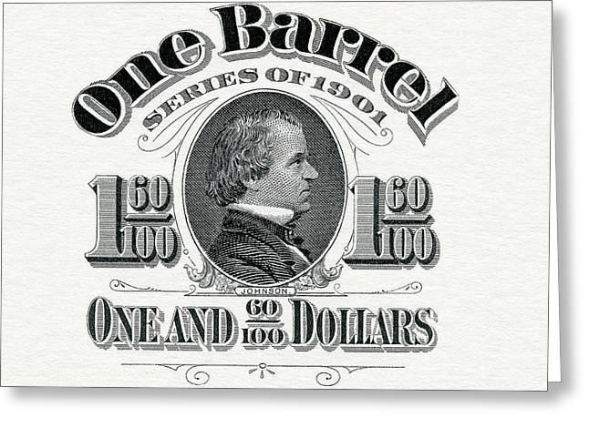 1901 Beer Barrel Tax Stamp Greeting Card by Jon Neidert