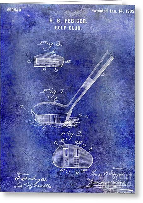 1902 Golf Club Patent Greeting Card