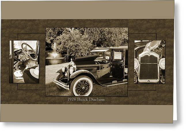 1924 Buick Duchess Antique Vintage Photograph Fine Art Prints 121 Greeting Card
