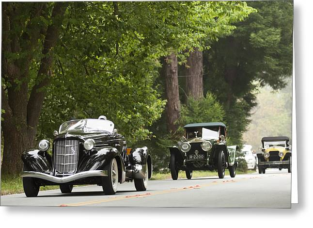 Car Show Photography Greeting Cards - 1936 Auburn 852 Supercharged Speedster  Greeting Card by Jill Reger