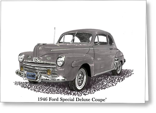 1946 Ford Special Deluxe Coupe Greeting Card by Jack Pumphrey
