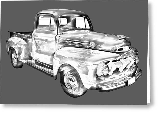 1951 Ford F-1 Pickup Truck Illustration Greeting Card by Keith Webber Jr
