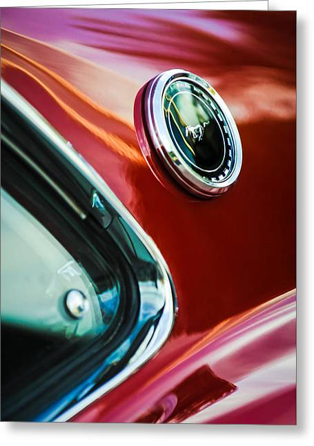 1969 Ford Mustang Mach 1 Emblem Greeting Card by Jill Reger