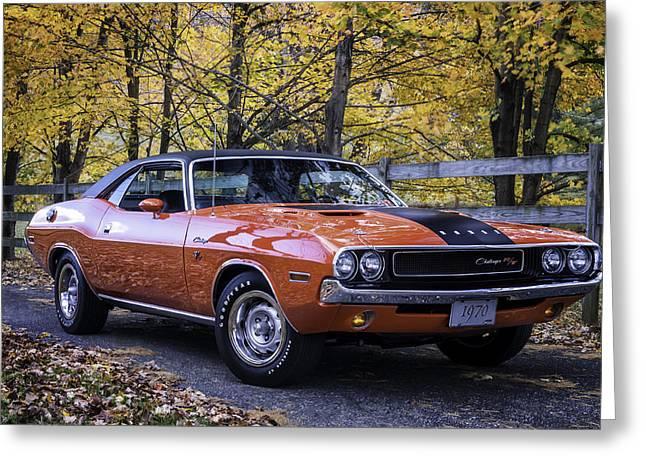 1970 Dodge Challenger Rt  Greeting Card