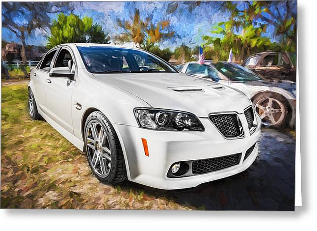 2008 Pontiac Gt8 Painted  Greeting Card by Rich Franco