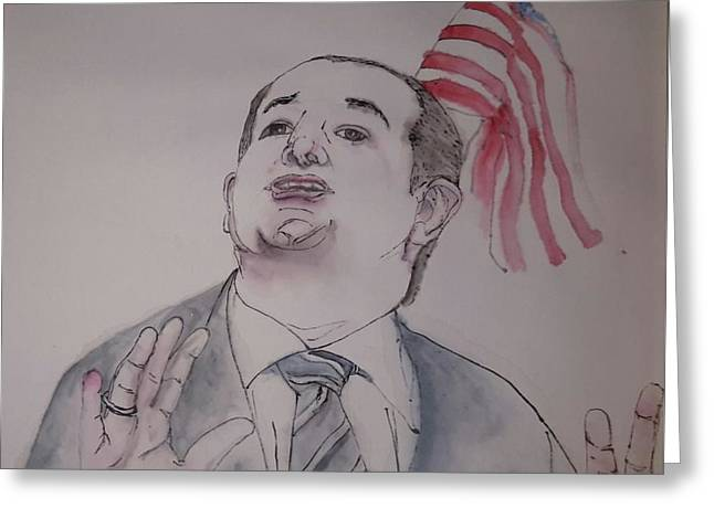 2016 Presidential Campaign  Album  Greeting Card by Debbi Saccomanno Chan