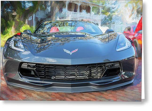 2017 Chevrolet Corvette Gran Sport  Greeting Card by Rich Franco