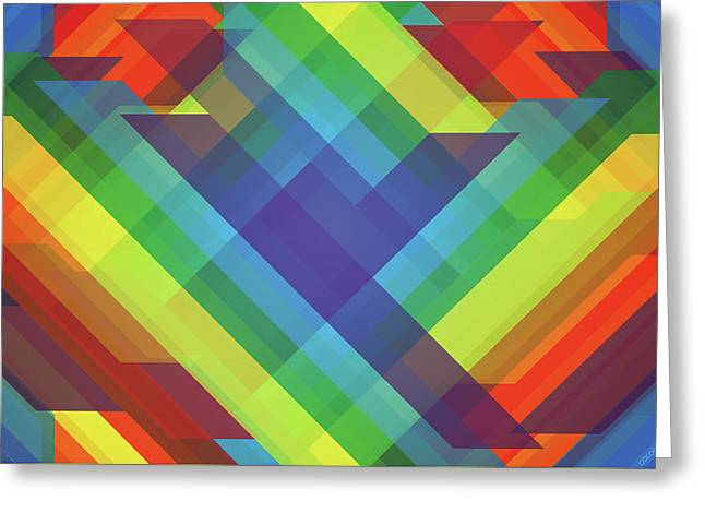 2d Funky Colorful                    Greeting Card