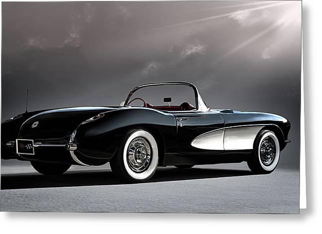 '56 Corvette Convertible Greeting Card by Douglas Pittman