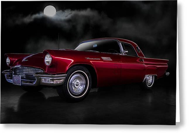 '57 T-bird Greeting Card by Douglas Pittman