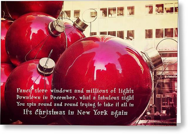 6th Avenue Quote Greeting Card by JAMART Photography