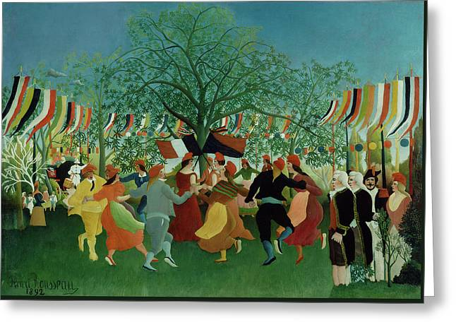 A Centennial Of Independence Greeting Card by Henri Rousseau
