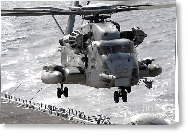 A Ch-53e Super Stallion Helicopter Greeting Card