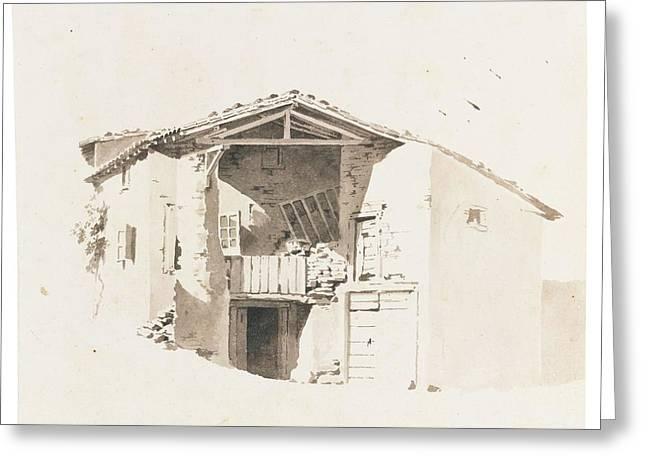 A Dilapidated Building Greeting Card by Jean-Jacques