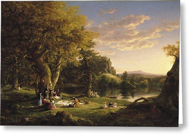 A Pic Nic Party Greeting Card by Thomas Cole