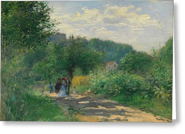 A Road In Louveciennes Greeting Card
