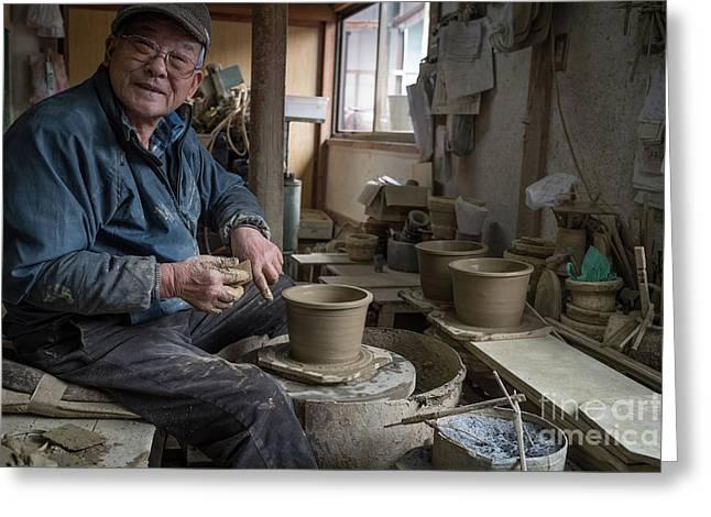 A Village Pottery Studio, Japan Greeting Card