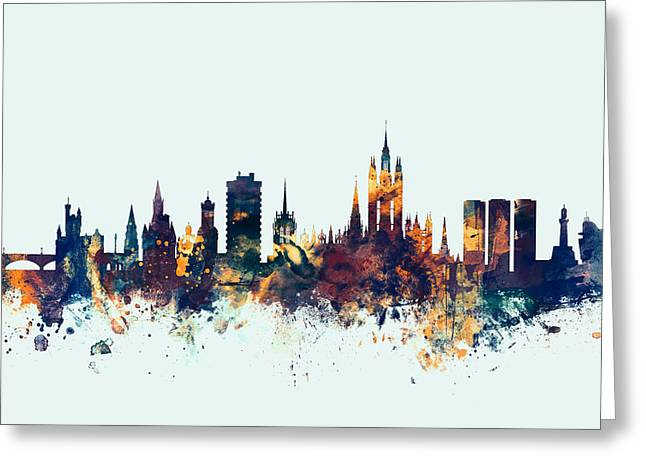 Aberdeen Scotland Skyline Greeting Card by Michael Tompsett