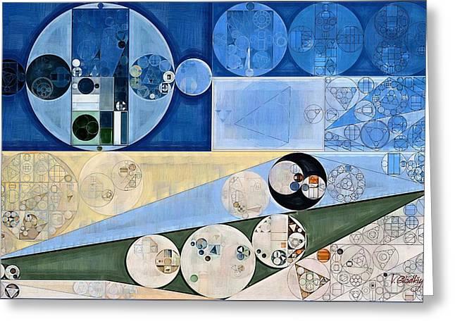 Abstract Painting - Dark Pastel Blue Greeting Card by Vitaliy Gladkiy