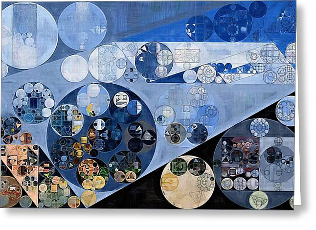 Abstract Painting - Echo Blue Greeting Card