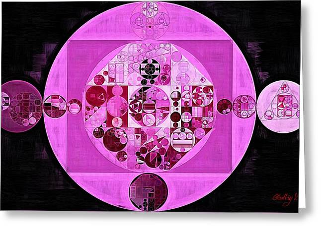Abstract Painting - Lavender Magenta Greeting Card by Vitaliy Gladkiy