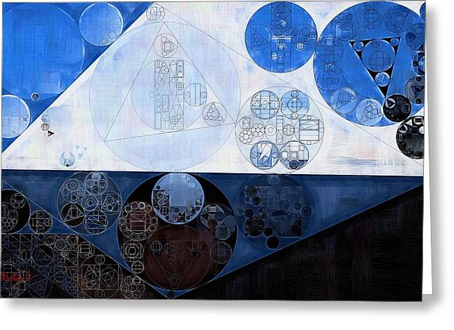 Abstract Painting - Lochmara Greeting Card