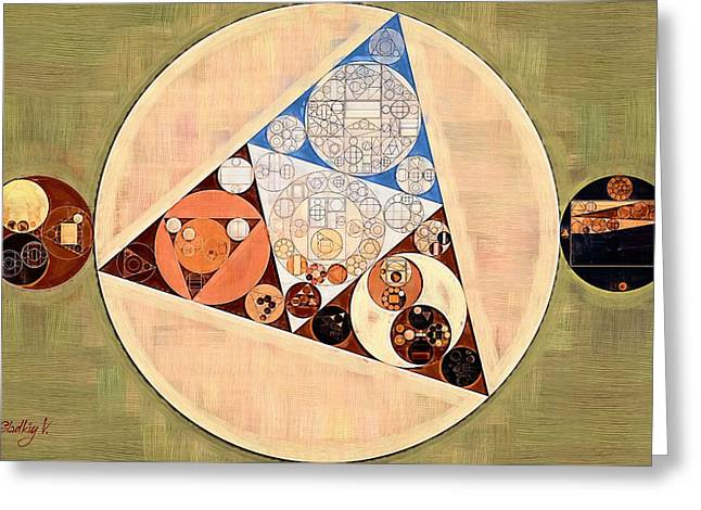 Abstract Painting - Muesli Greeting Card