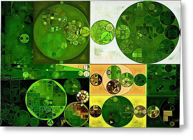 Abstract Painting - Phthalo Green Greeting Card by Vitaliy Gladkiy