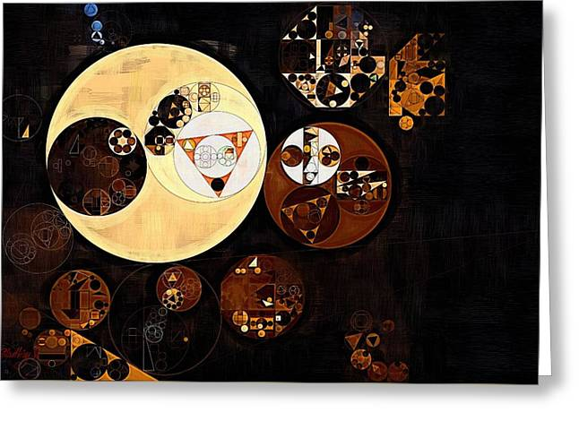 Abstract Painting - Russet Greeting Card by Vitaliy Gladkiy