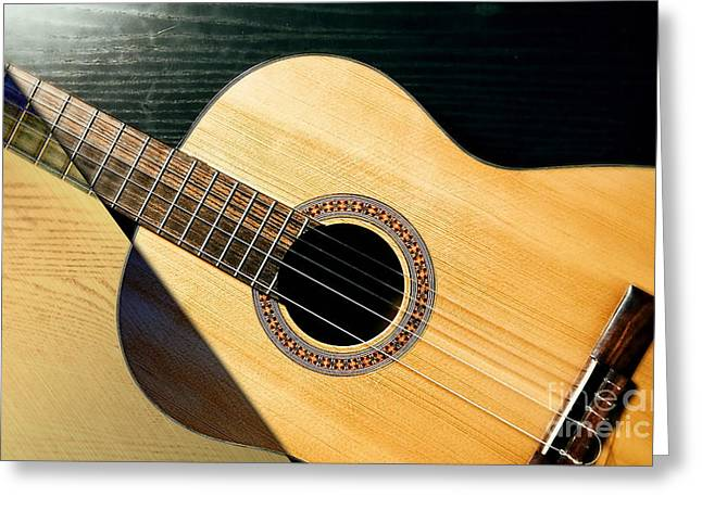 Acoustic Guitar Collection Greeting Card by Marvin Blaine