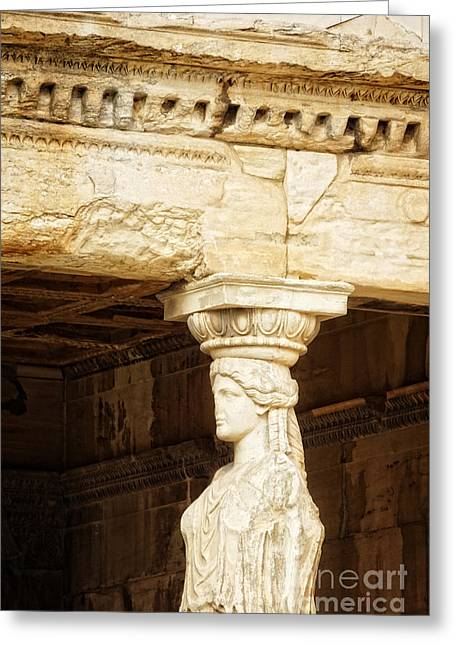 Acropolis Of Athens Greeting Card by HD Connelly