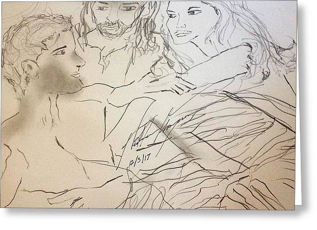 Adam Andeve The Creation Story Greeting Card