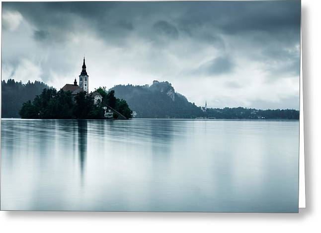 After The Rain At Lake Bled Greeting Card