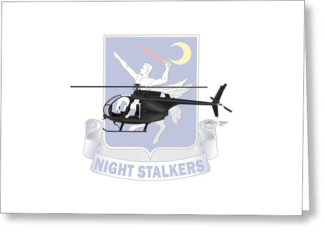 Ah-6j Little Bird Night Stalkers Greeting Card