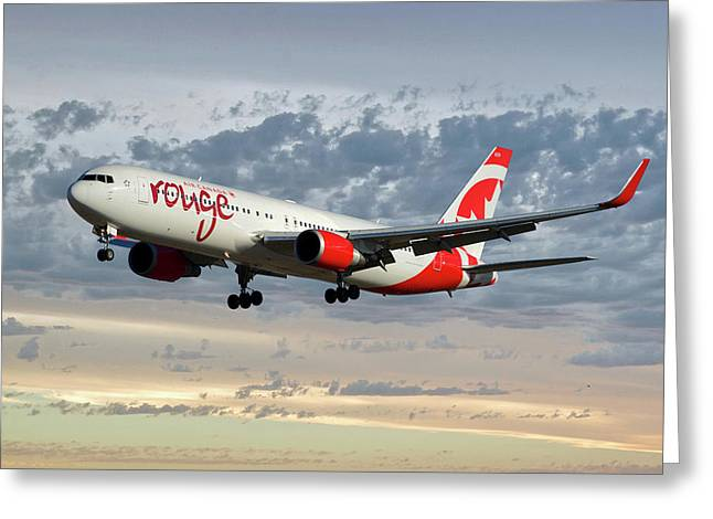 Air Canada Rouge Boeing 767-333 114 Greeting Card