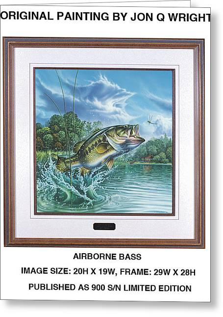 Airborne Bass Greeting Card by Jon Q Wright