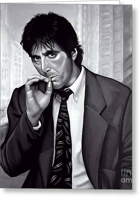 Al Pacino  Greeting Card by Meijering Manupix