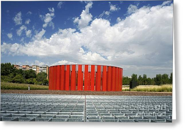 Alcorcon Arts Creation Center Greeting Card by Carlos Dominguez