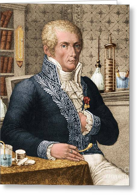 Alessandro Volta, Italian Physicist Greeting Card by Omikron