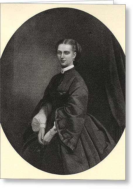 Alexandra Of Denmark, 1844 Greeting Card by Vintage Design Pics