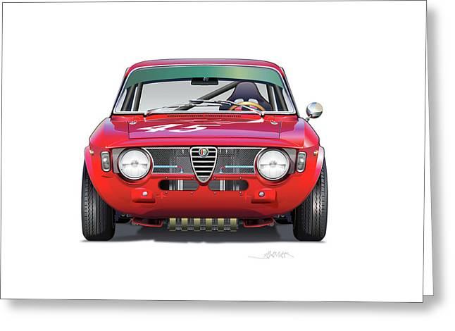 Alfa Romeo Gtv Illustration Greeting Card