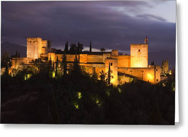 Alhambra Greeting Card by Andre Goncalves
