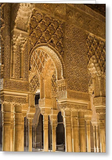 Alhambra Palace - Granada Spain Greeting Card by Jon Berghoff